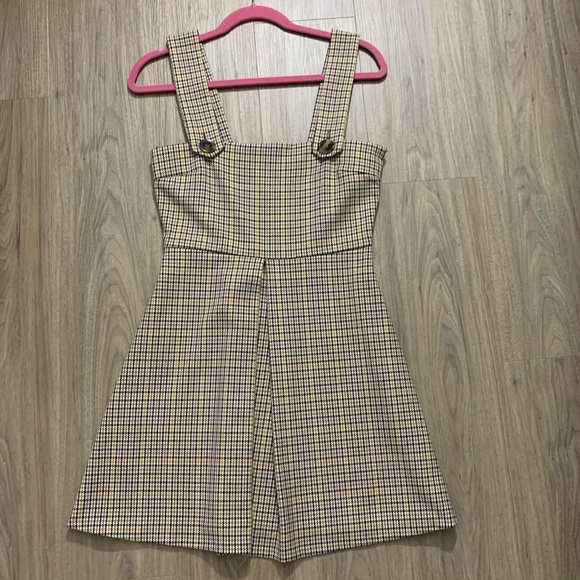 Zara Dresses & Skirts - Zara Plaid Overall Dress